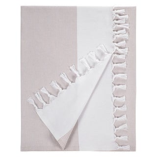 Turkish Cotton Cream Striped Fouta Bath/ Beach Towel