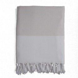 Turkish Cotton Cream Striped Fouta Bath/ Beach Towel