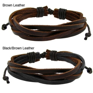 Genuine Leather Multi-layered Adjustable Bracelet