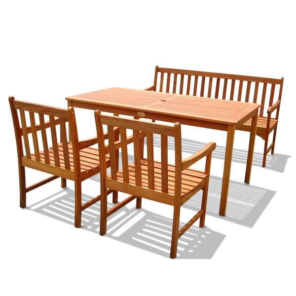 Outdoor Wood English Garden Dining Set