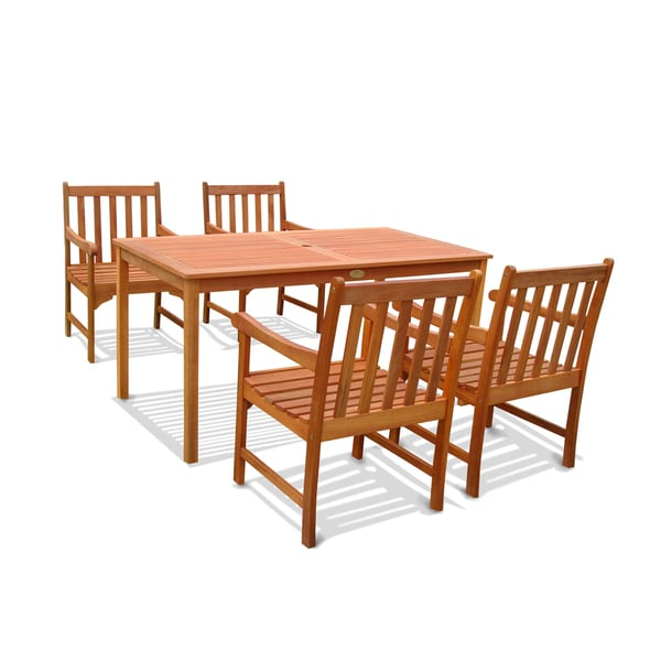 Outdoor Wood English Garden Dining Set