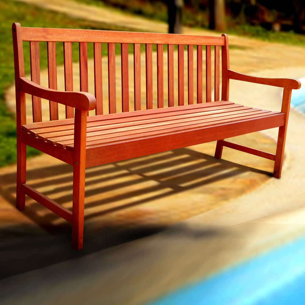 Model Amish Pine High Back Heart Outdoor Wood Bench