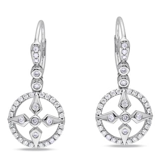 Miadora Signature Collection 14k White Gold 3/5ct TDW Diamond Earrings (G-H, SI1-SI2)