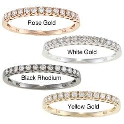 Victoria Kay 14k Gold 1/5ct TDW Round-cut White Diamond Band (I-J, I1-I2)