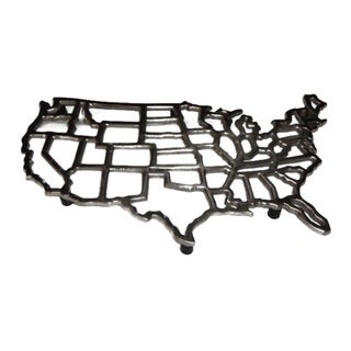 Horizon Pewter United State Map Trivet