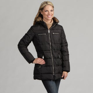 Anne Klein Women's Black Faux-fur Jacket