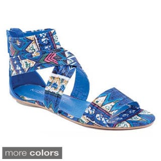I-Comfort Women's Aztec Sparkle Wrap Sandals
