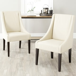 Safavieh En Vogue Dining Sloping Arm Chairs Cream Side Chairs (Set of 2)