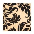 Indo Hand-Tufted Ivory/Black Contemporary Wool Rug (6' x 6')