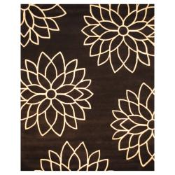 Indo Hand-tufted Black/ White Wool Rug (8' x 10')