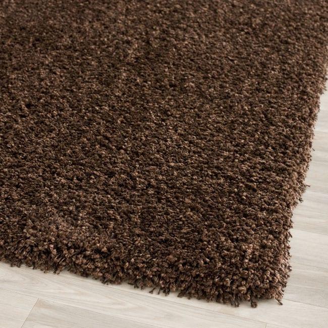 Safavieh California Cozy Solid Brown Shag Rug (4' Round)
