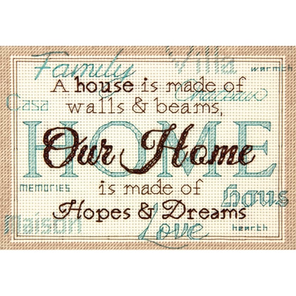 "Home Mini Counted Cross Stitch Kit-7""X5"" 14 Count 9219360"