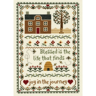 """Joy In The Journey Counted Cross Stitch Kit-7-3/4""""X11-1/4"""" 14 Count"""