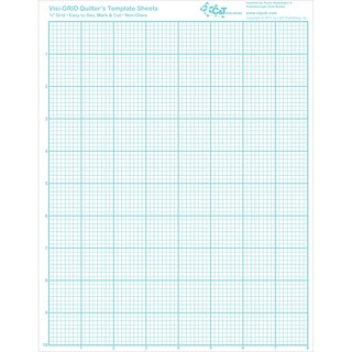 "Visi-GRID Quilter's Template Sheets-8-1/2""X11"" 4/Pkg"
