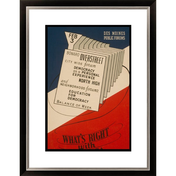 'What's Right with America' Framed Limited Edition Giclee