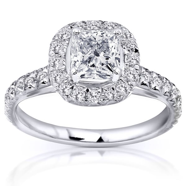 Annello 14k White Gold 1 2/5ct TDW Diamond Engagement Ring (H-I, I1-I2)