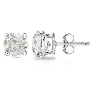 14k Gold 1 1/2ct or 2ct TDW Round Diamond Stud Earrings (J-K, I2-I3)