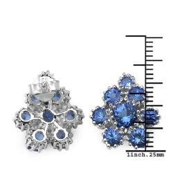 Malaika Sterling Silver 4 5/8ct TGW Tanzanite Stud Earrings