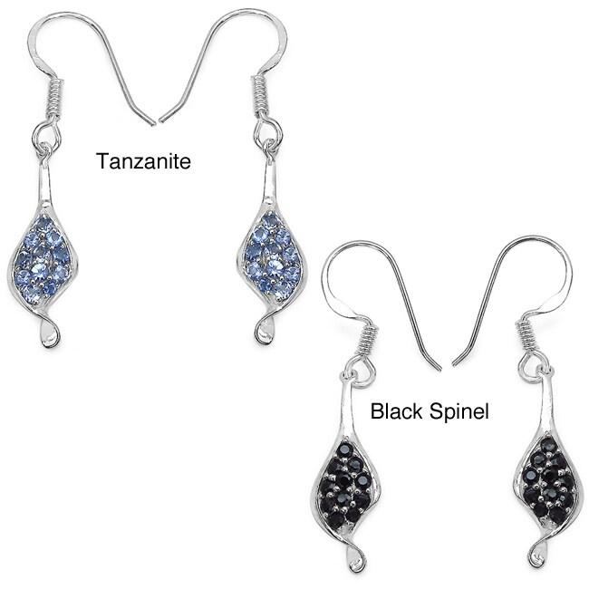 Malaika Malaika Sterling Silver 1ct Gemstone Earrings