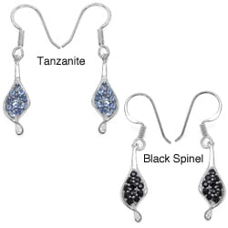 Malaika Sterling Silver 1ct Gemstone Earrings