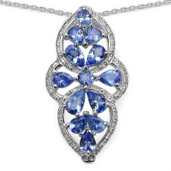 Malaika Sterling Silver 2ct TGW Tanzanite Necklace