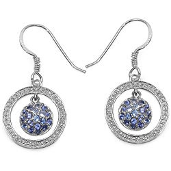 Malaika Sterling Silver 1 1/6ct TGW Tanzanite Earrings