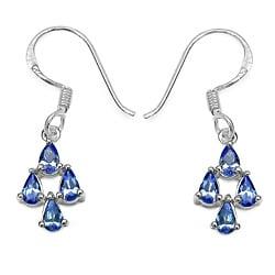 Malaika Sterling Silver 1 1/2ct TGW Tanzanite Earrings