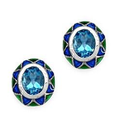 Malaika Sterling Silver 3 1/5ct TGW Topaz Earrings