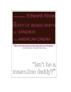 The Death of Bessie Smith / The Sandbox / The American Dream (Paperback)