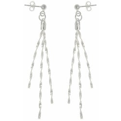 CGC Sterling Silver 3-strand Twist Magic Earrings