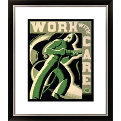 'Work with Care' Framed Limited Edition Americana Giclee