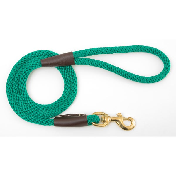 Snap Leash 3/8 inches x 4 foot Kelly Green