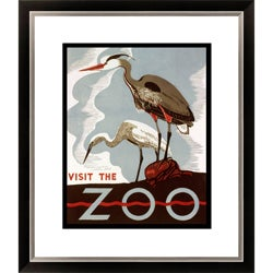 Visit the Zoo Birds Framed Limited Edition Giclee Art