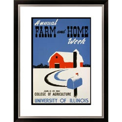 Annual Farm and Home Week Framed Limited Edition Giclee Art