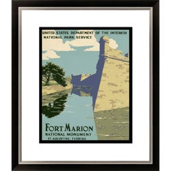 Fort Marion National Monument St. Augustine Florida Framed Limited Edition Giclee Art