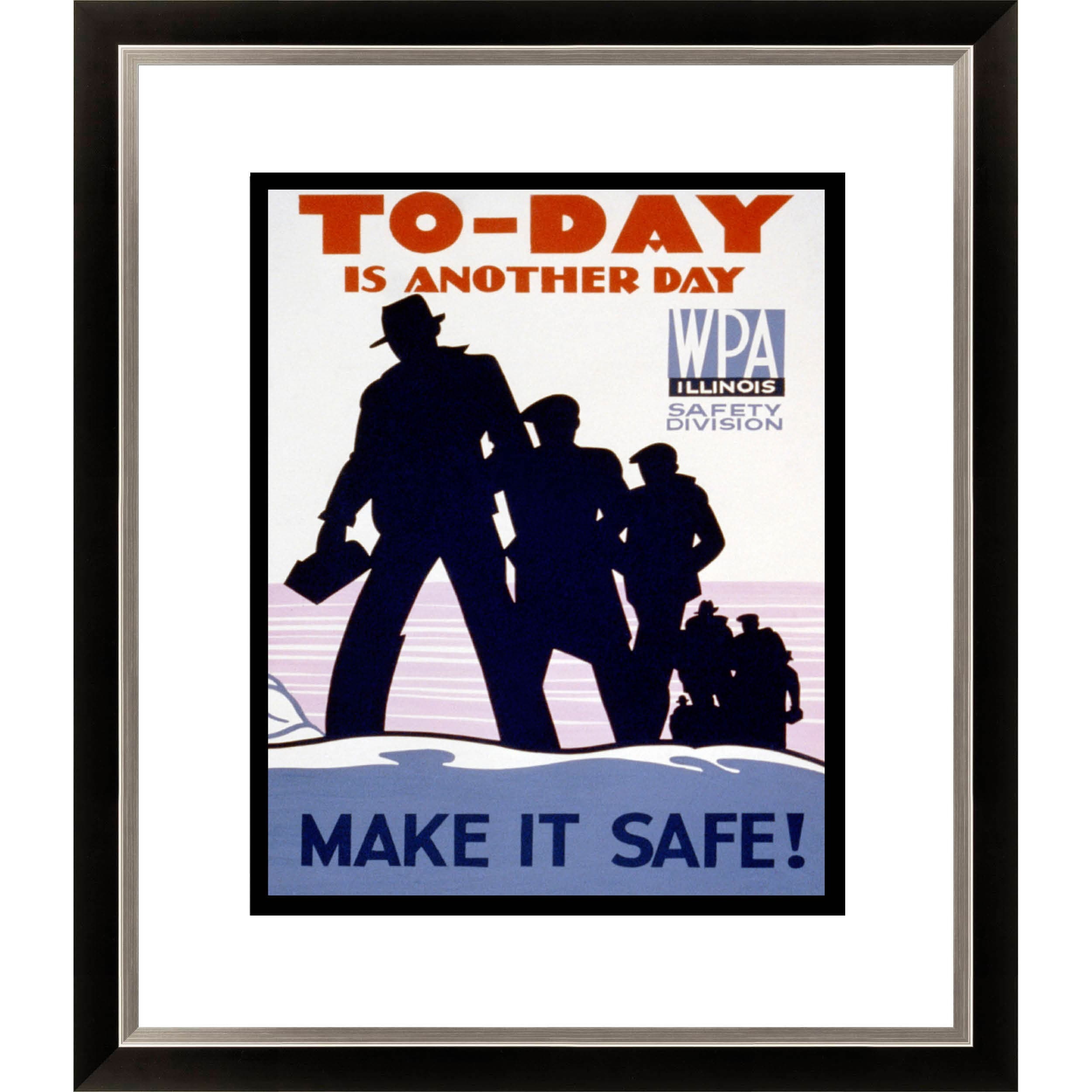 To-day is Another Day Make it Safe! Framed Limited Edition Giclee Art
