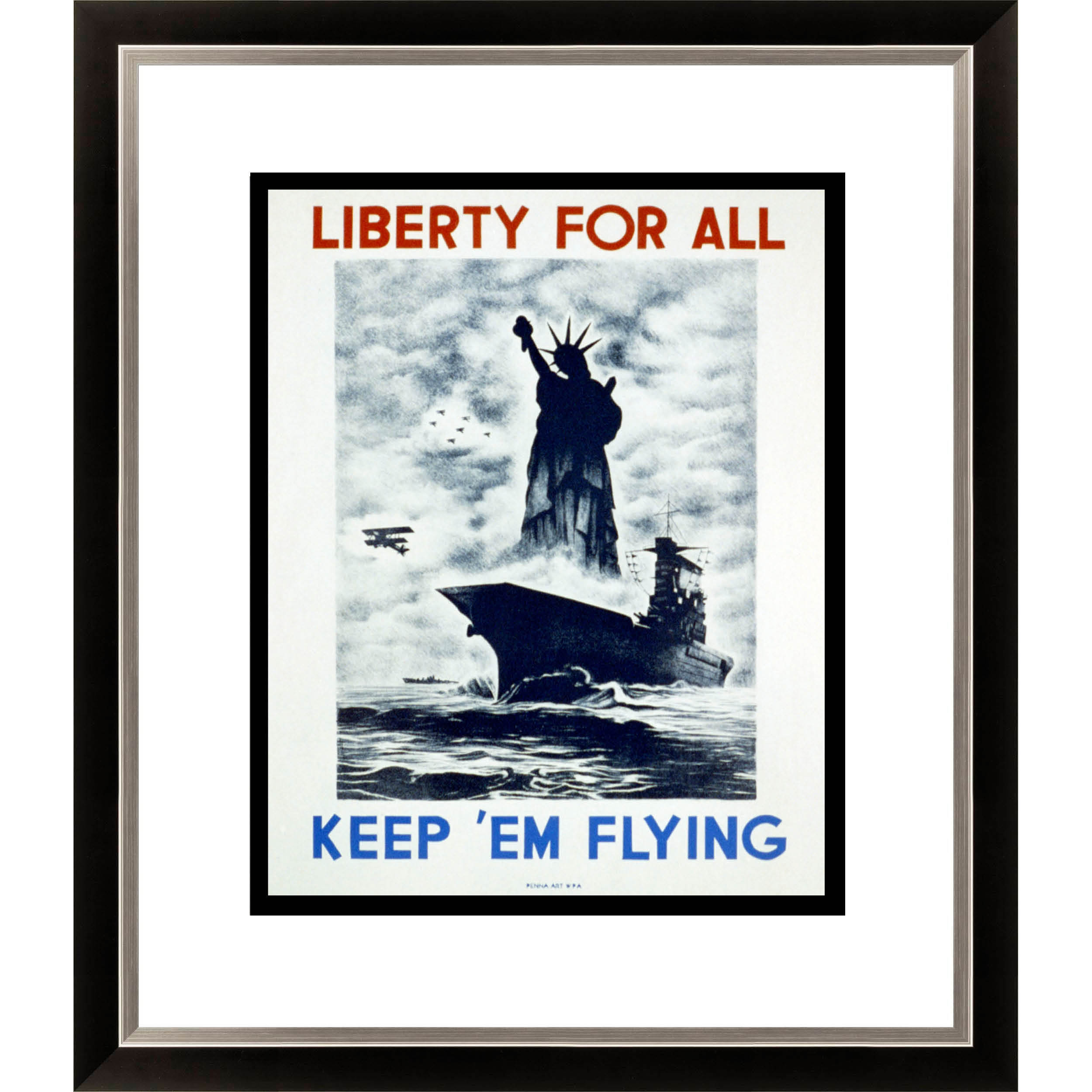 Liberty for All Framed Limited Edition Giclee Art