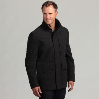Izod Men's Wool Zip-front Coat