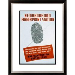 Neighborhood Fingerprint Station Framed Limited Edition Giclee Art
