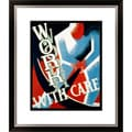 'Work with Care' Framed Limited Edition Giclee