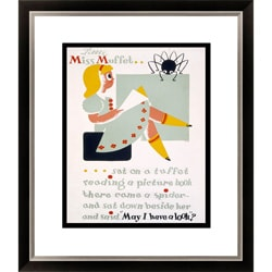 Gallery Direct Little Miss Muffet Framed Limited Edition Giclee Art