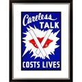 Careless Talk Costs Lives Framed Limited Edition Giclee Art