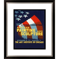51st Annual Exhibition American Painting and Sculpture Framed Limited Edition Giclee Art