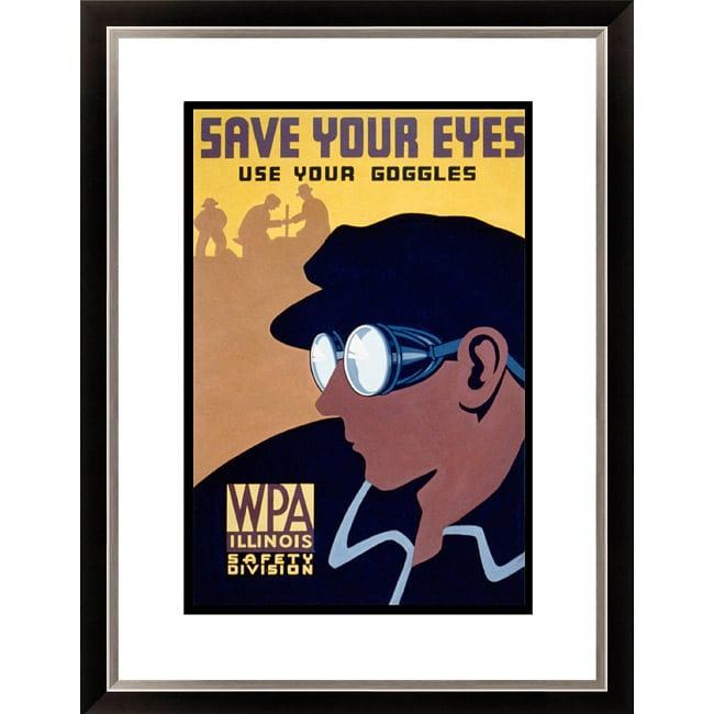 'Save Your Eyes- Use Your Goggles' Framed Limited Edition Giclee