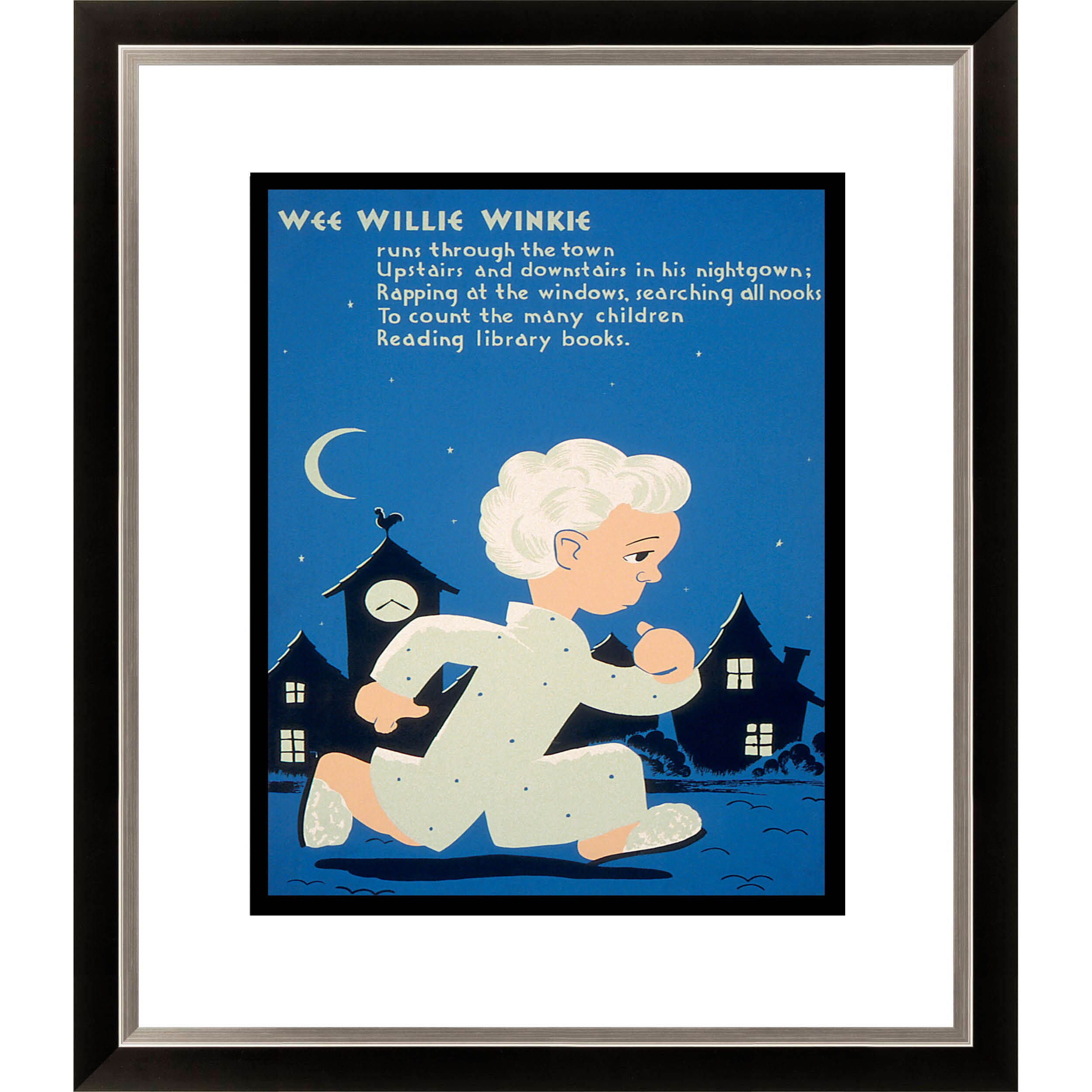 'Wee Willie Winkie Runs Through the Town' Framed Limited Edition Giclee