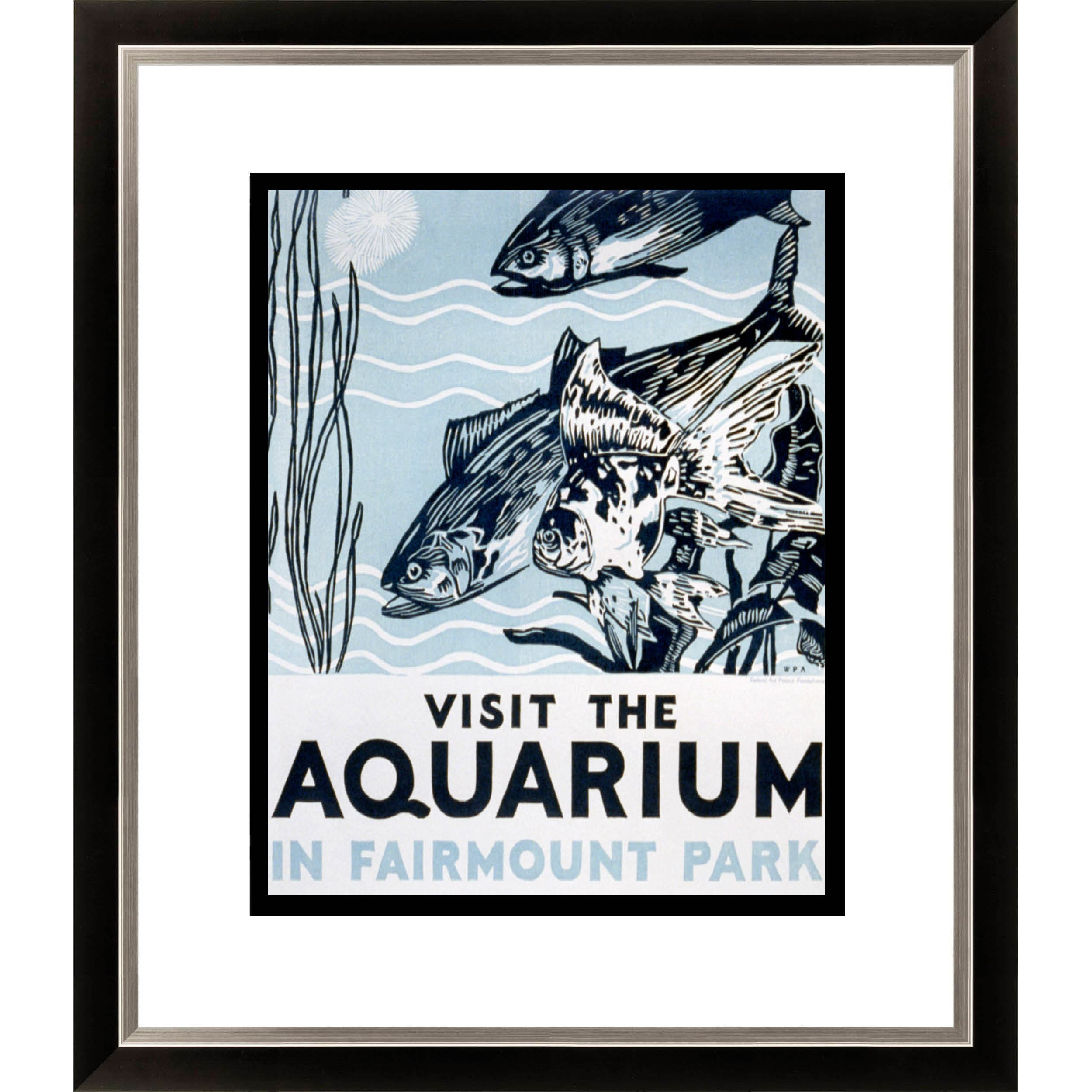 Gallery Direct 'Visit the Aquarium in Fairmount Park' Framed Limited Edition Giclee