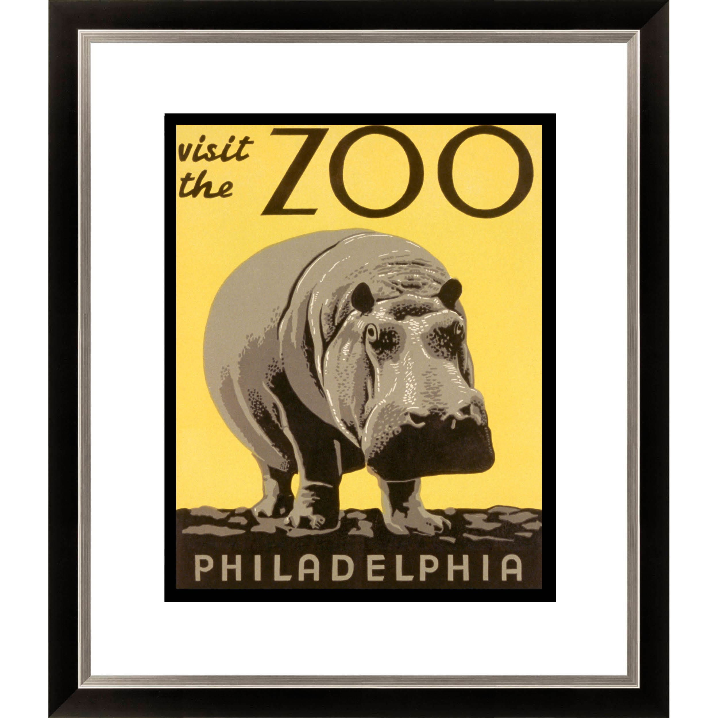 'Visit the Zoo- Philadelphia' Framed Limited Edition Giclee