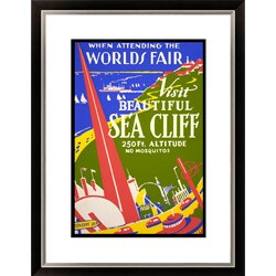 'When Attending the Worlds Fair Visit Beautiful Sea Cliff' Framed Limited Edition Giclee