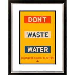 'Don't Waste Water' Framed Limited Editon Giclee