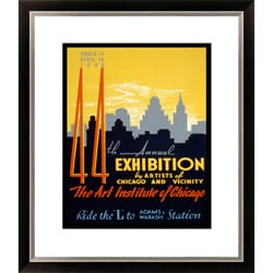 '44th Annual Exhibition by Artists of Chicago' Framed Limited Edition Giclee
